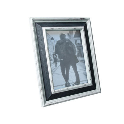 Cherish noir / blanc en détresse photo cadre photo, 5