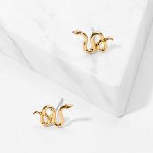 Snake Shaped Stud Earrings 1pair