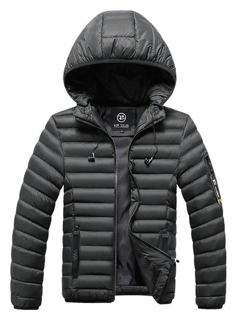 Ericdress Hooded Standard Zipper Casual Men's Down Jacket