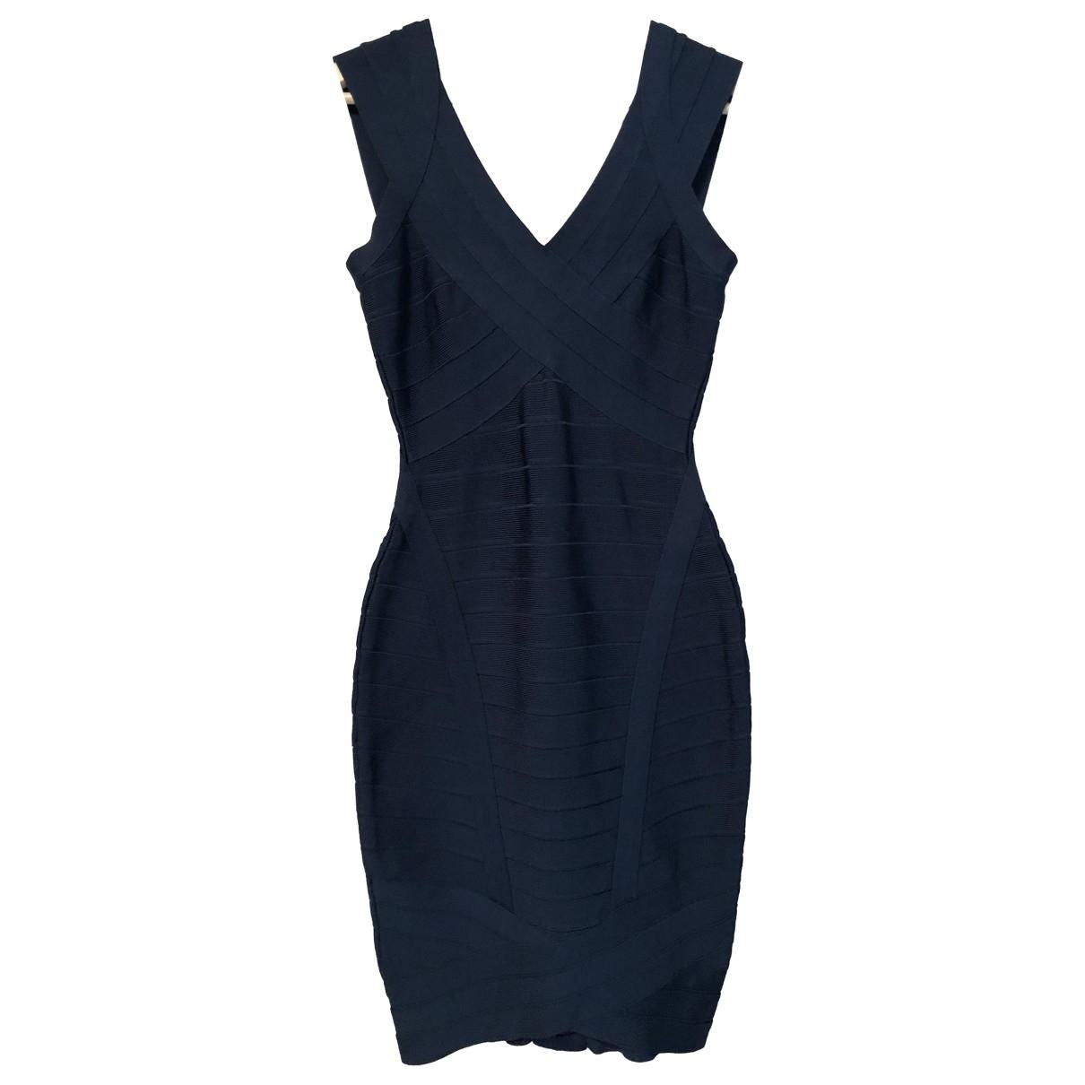 Herve Leger \N Kleid in  Blau Synthetik