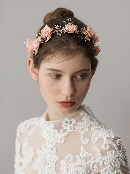 Milanoo Wedding Flowers Headpieces Rhinestones Beaded Headband Bridal Hair Accessories