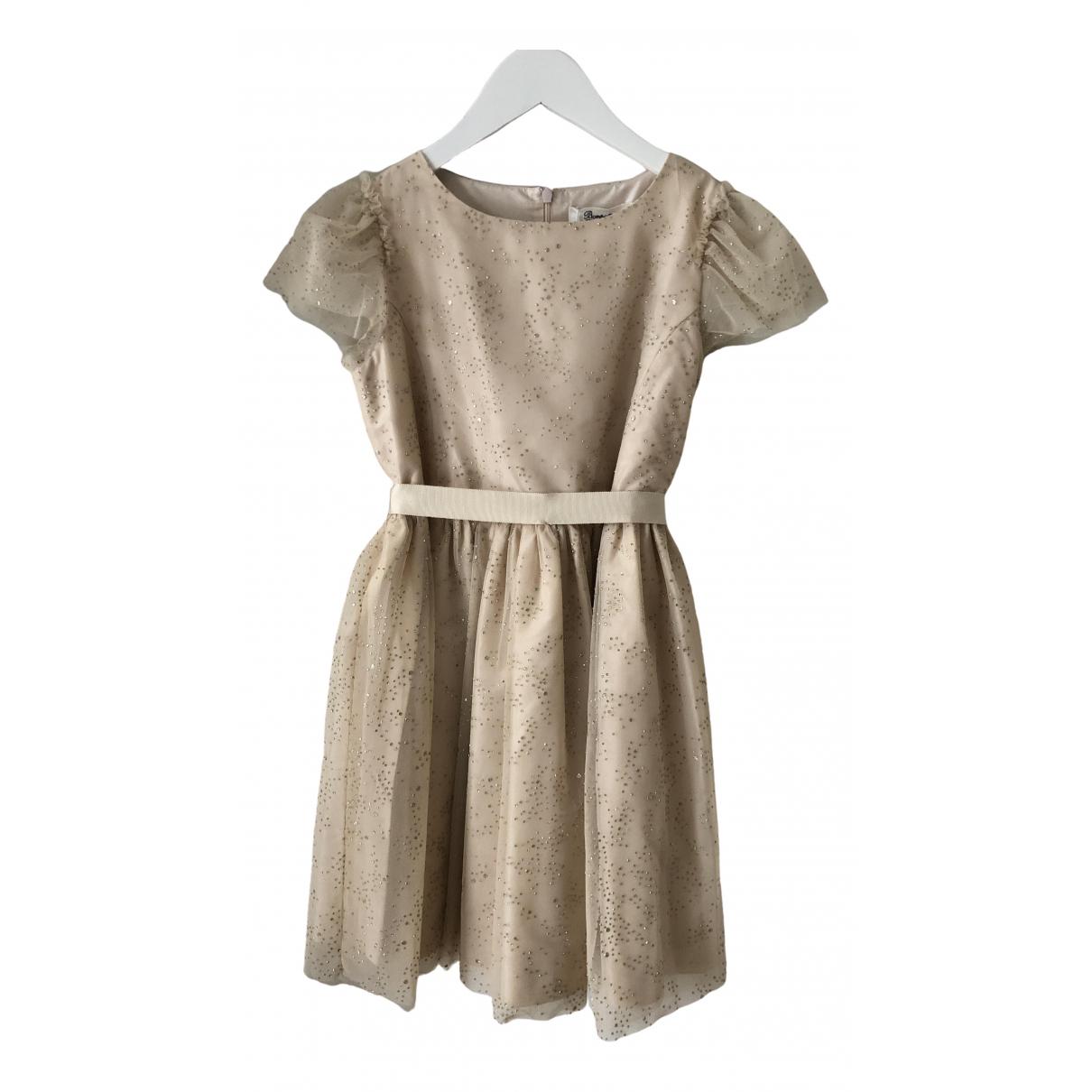 Bonpoint - Robe    pour enfant en soie - dore
