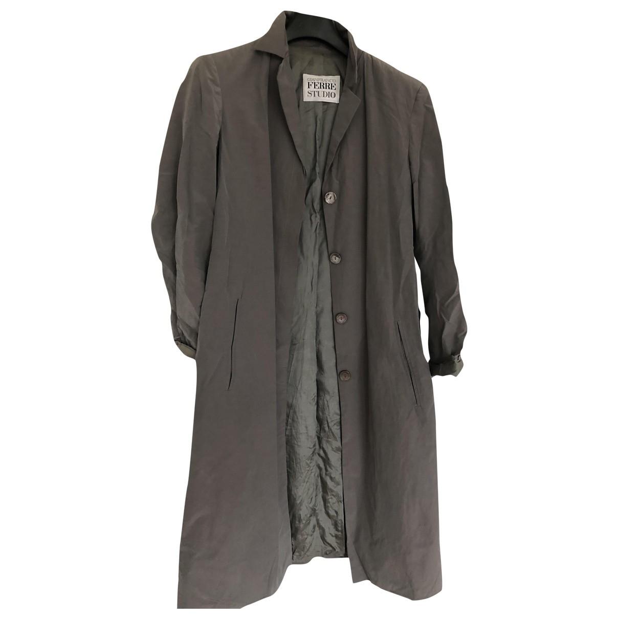 Gianfranco Ferre - Trench   pour femme en coton - gris