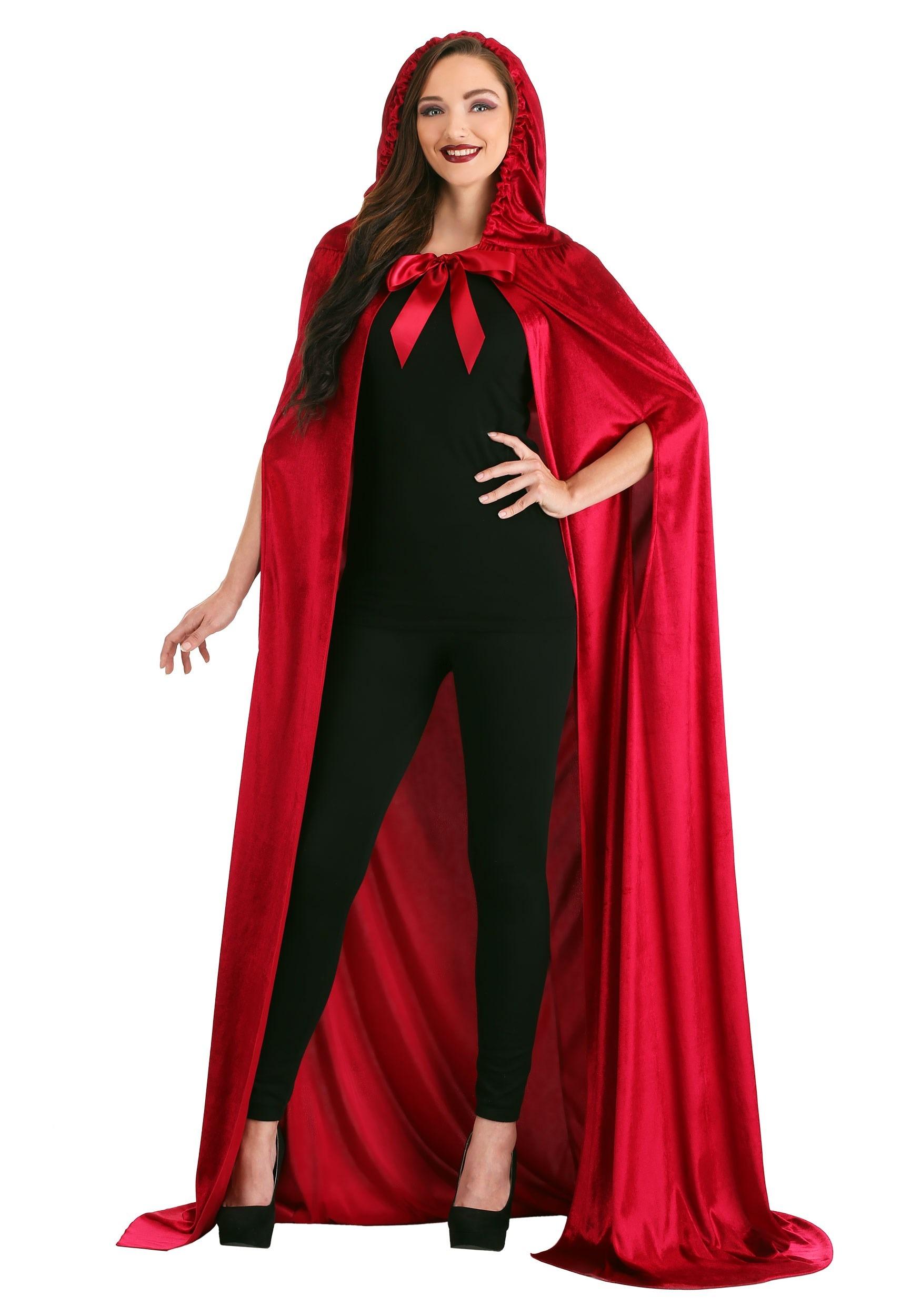 Crimson Riding Cloak for Adults