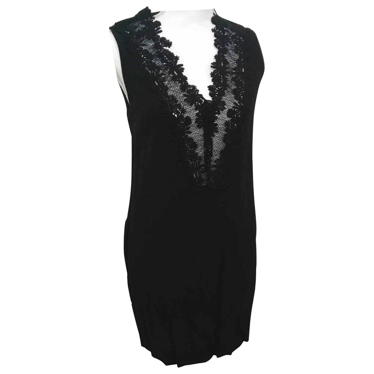 Sandro \N Kleid in  Schwarz Viskose