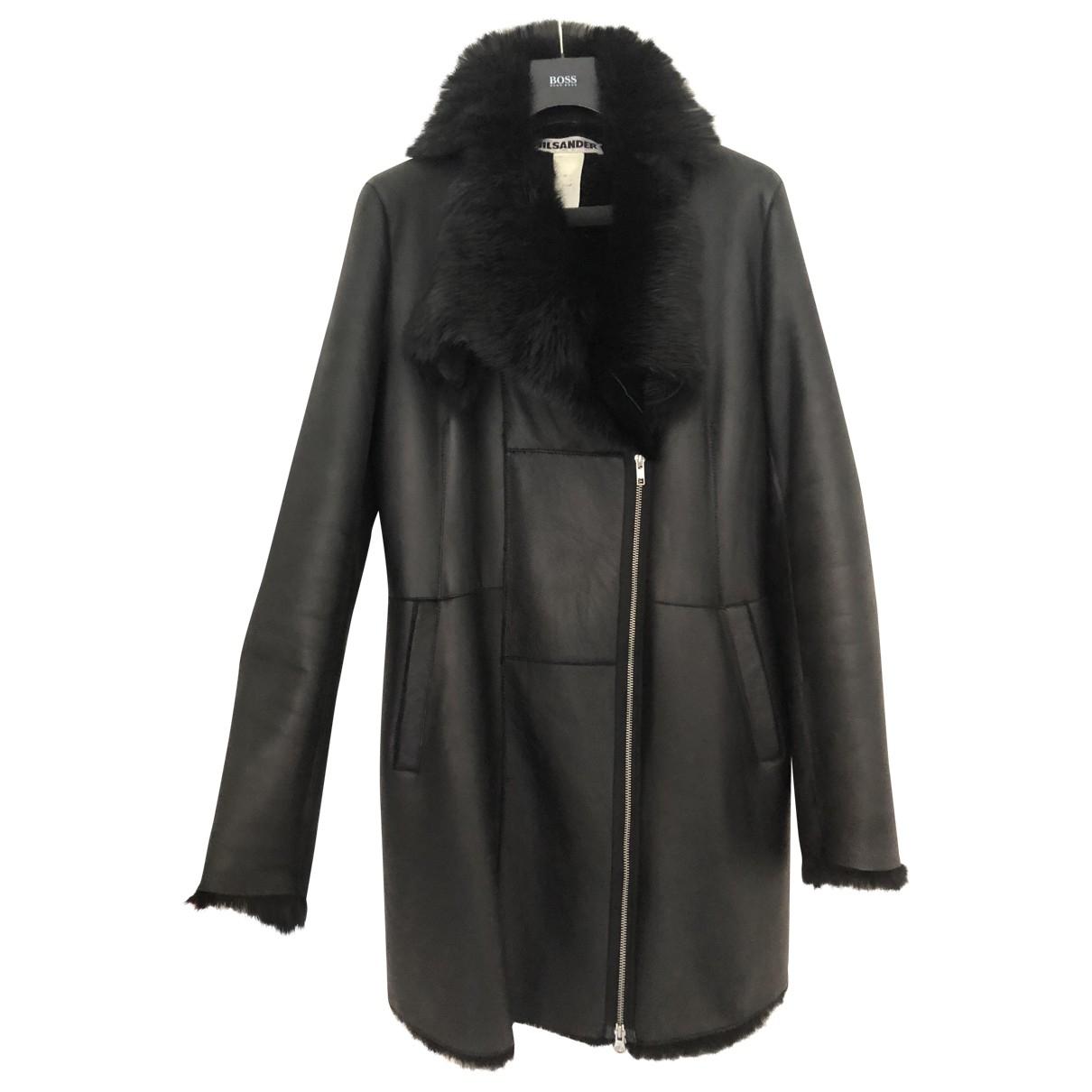 Jil Sander \N Black Shearling coat for Women M