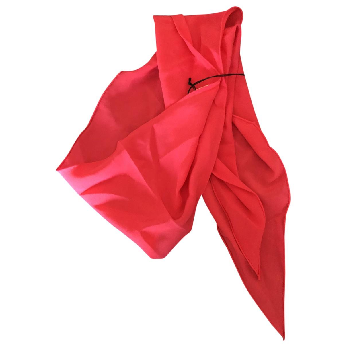 Saint Laurent - Foulard   pour femme en soie - rouge