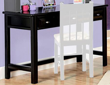 3534540 Student Desk with 3 Drawers  Stretchers and Solid Pine Construction in Black