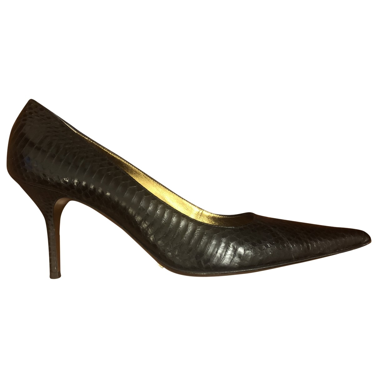 Dolce & Gabbana \N Black Water snake Heels for Women 41 EU