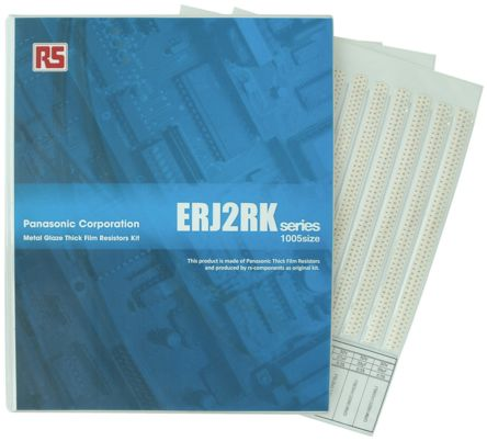 Panasonic , ERJ2RK Thick Film, SMT 122 Resistor Kit, with 24400 pieces, 10 Ω to 1MΩ