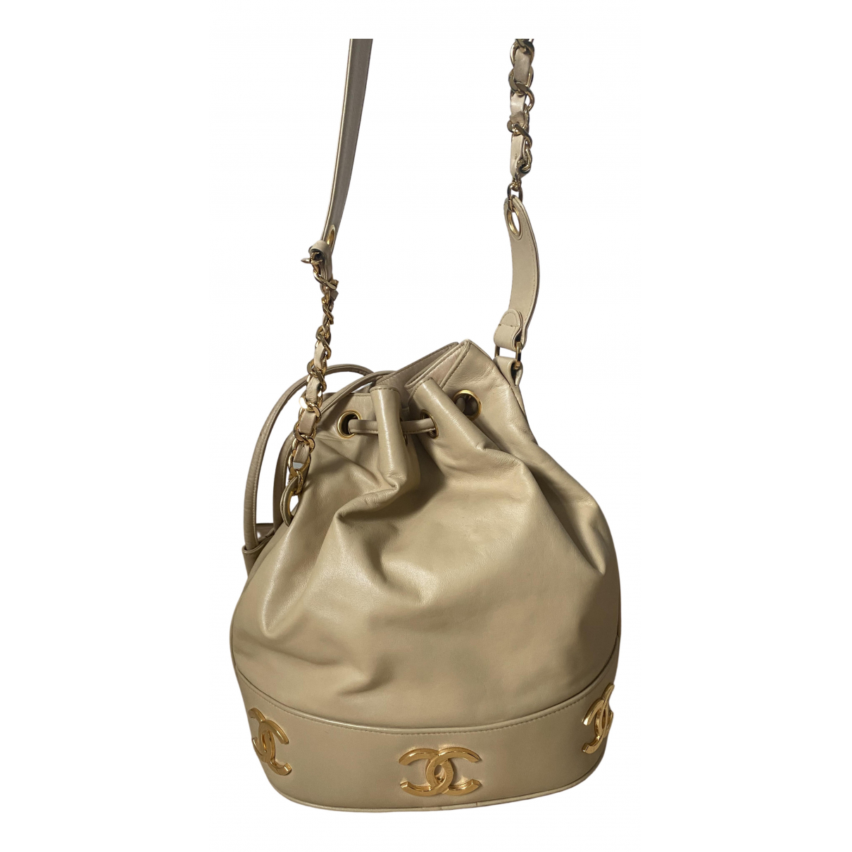 Chanel \N Handtasche in  Beige Leder