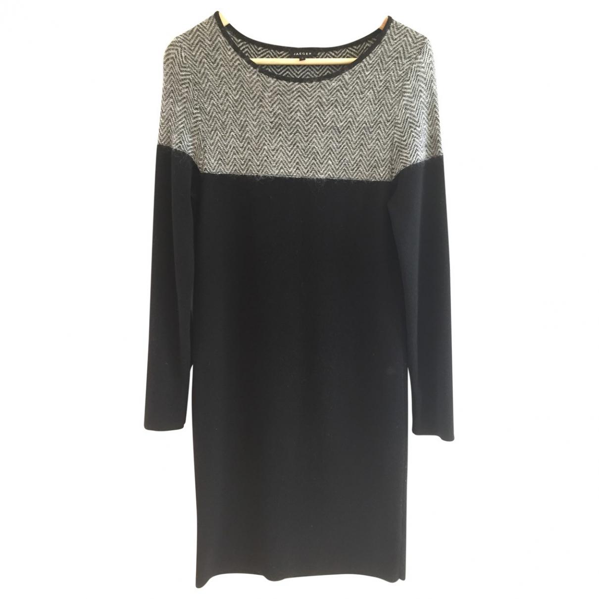 Jaeger \N Kleid in  Schwarz Wolle