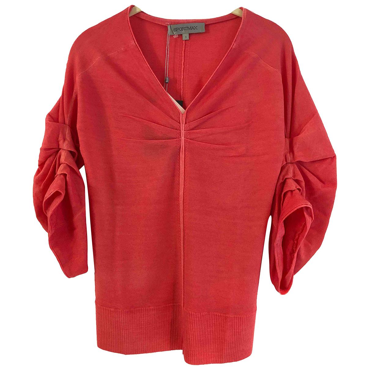 Sport Max - Pull   pour femme en laine - rose