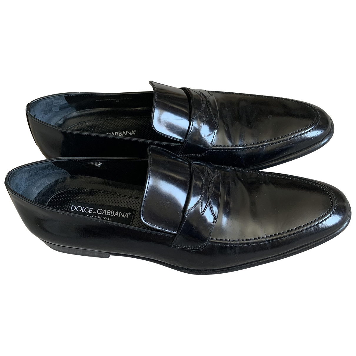 Dolce & Gabbana \N Black Leather Flats for Men 8 UK