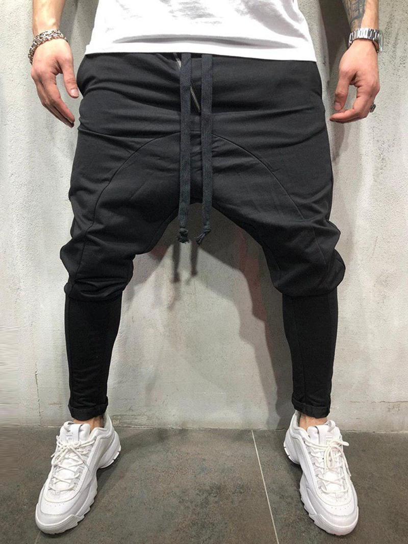 Ericdress Plain Lace-Up Mens Casual Baggy Pants