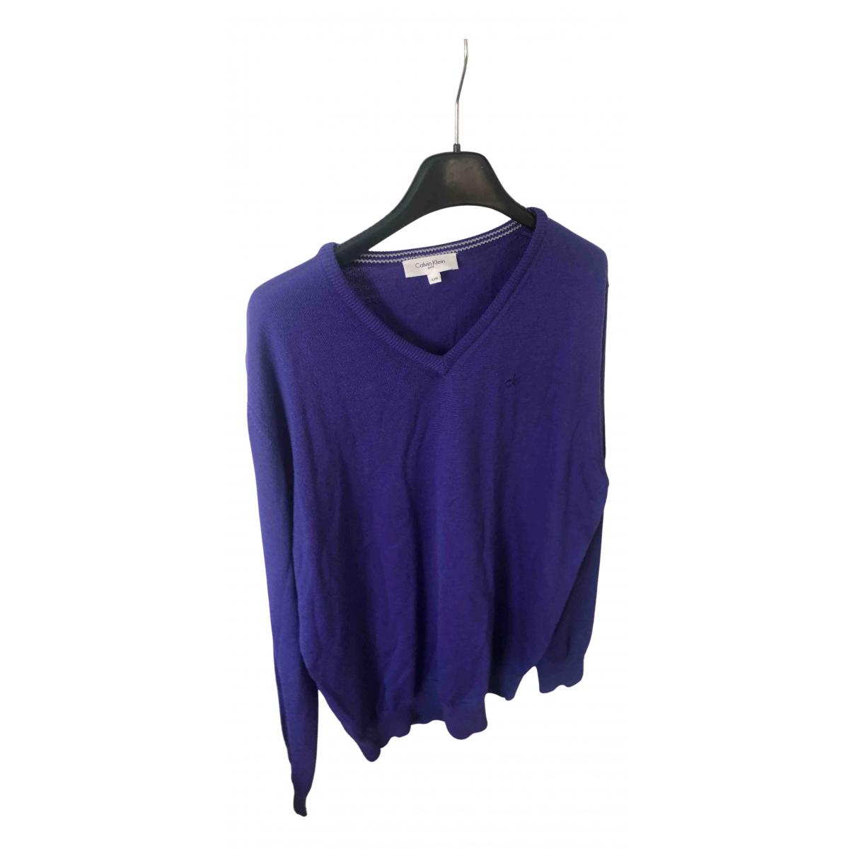 Calvin Klein N Purple Wool Knitwear & Sweatshirts for Men L International
