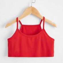 Toddler Girls Rib Knit Crop Cami Top