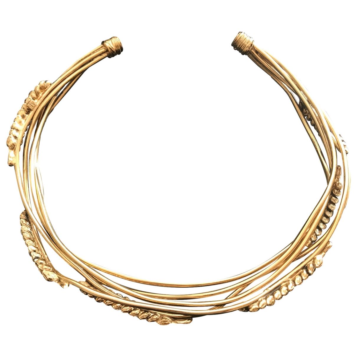 Aurelie Bidermann - Collier Ble pour femme en plaque or - dore