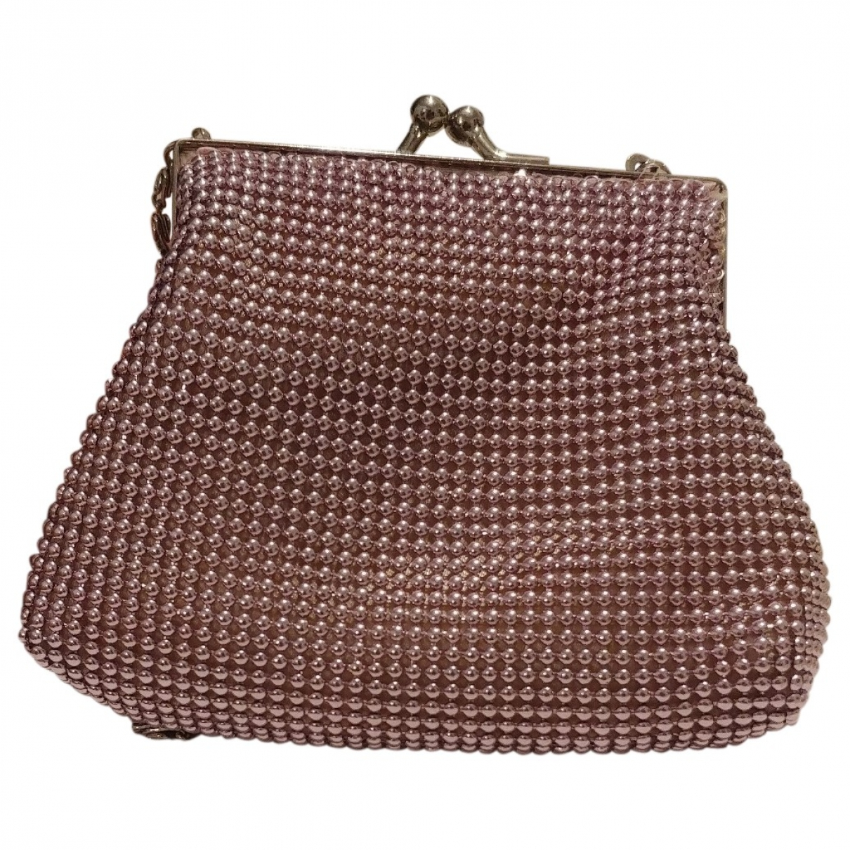 Non Signe / Unsigned \N Handtasche in  Rosa Polyester