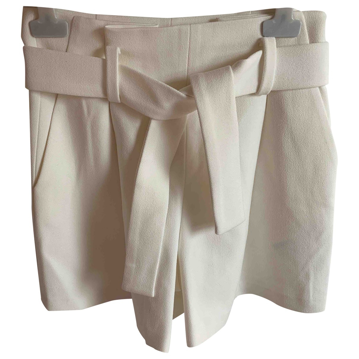 Maje \N Shorts in  Weiss Polyester