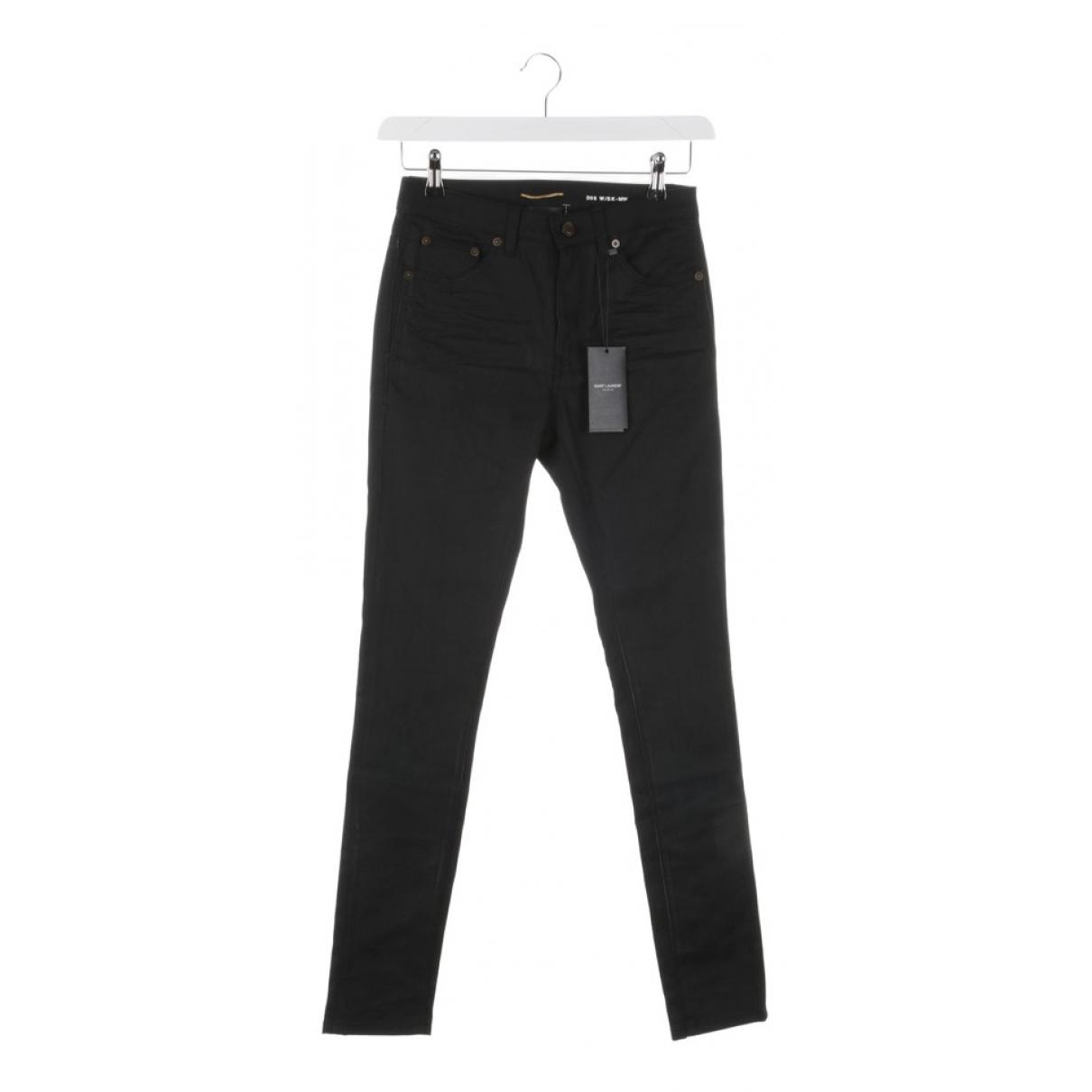 Saint Laurent \N Black Cotton Jeans for Women 26 US