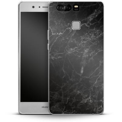 Huawei P9 Silikon Handyhuelle - Midnight Marble von caseable Designs