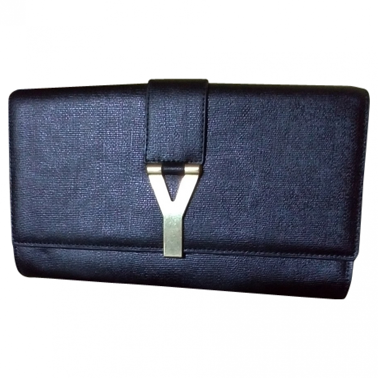 Yves Saint Laurent Chyc Clutch in  Schwarz Leder