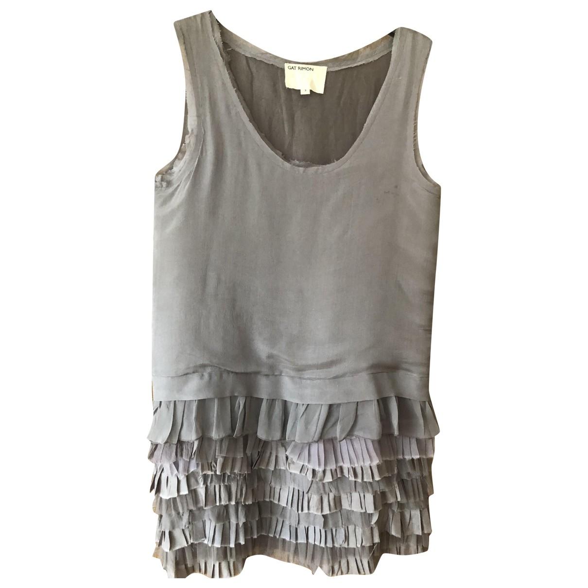 Gat Rimon \N Kleid in  Grau Seide