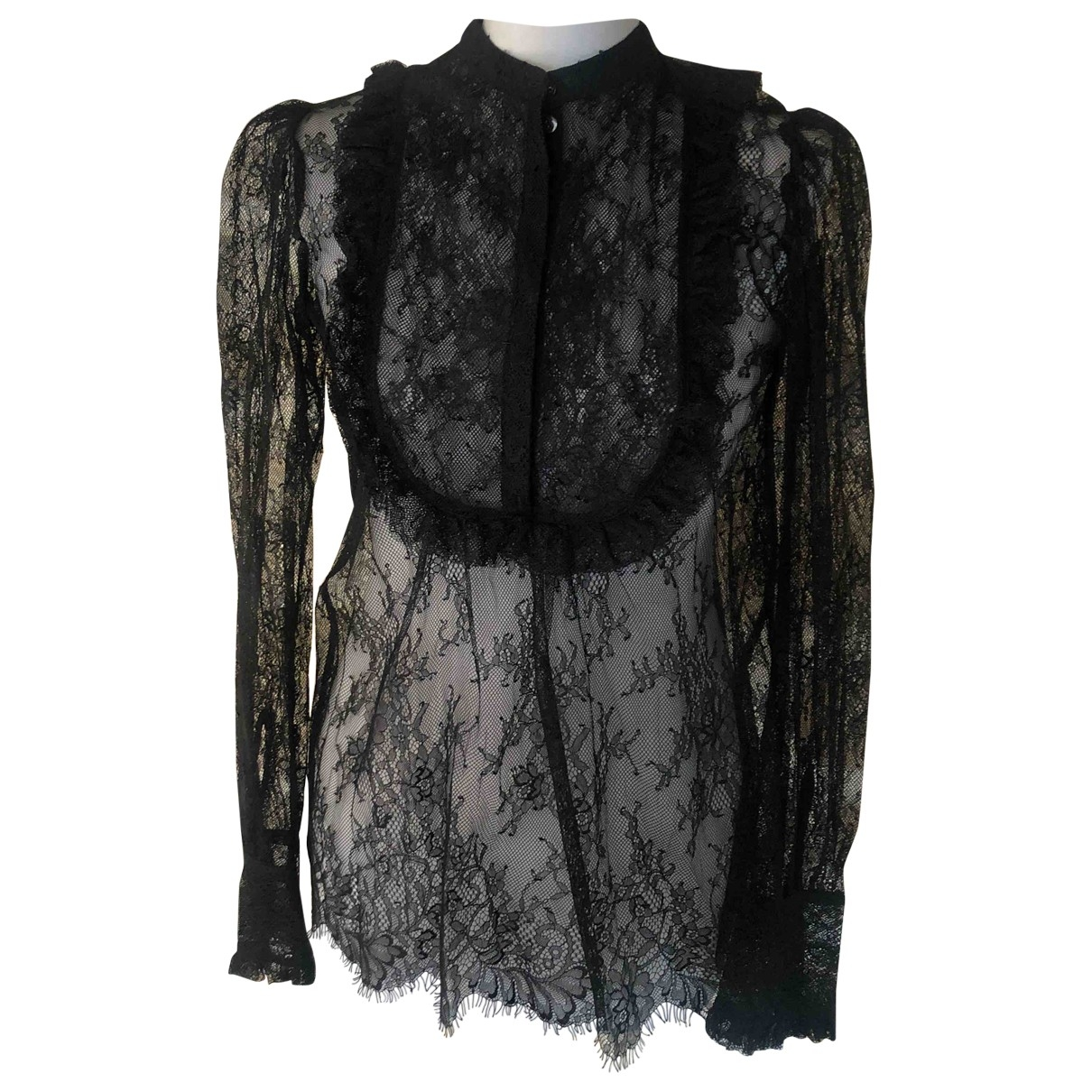 The Kooples Spring Summer 2019 Black Lace  top for Women S International