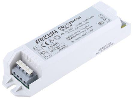 Recom RELI-DA01/R Dali to Analogue Interface for use with  AC/DC LED Drivers 90 → 264 V ac 0 → 10V