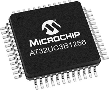 Microchip AT32UC3B1256-AUT, 32bit AVR Microcontroller, AT32, 60MHz, 256 kB Flash, 48-Pin TQFP (250)