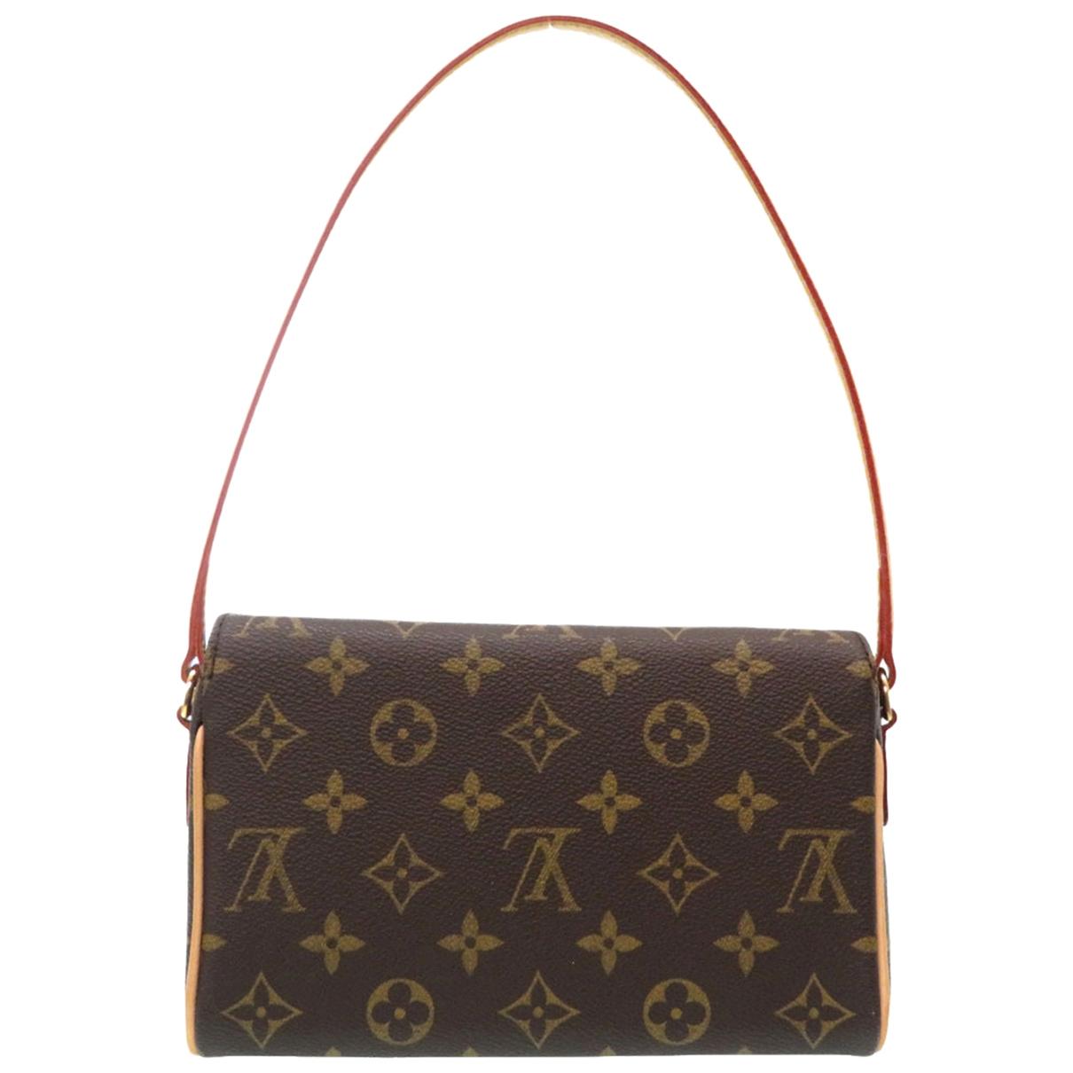 Louis Vuitton Recital Handtasche in  Braun Leinen
