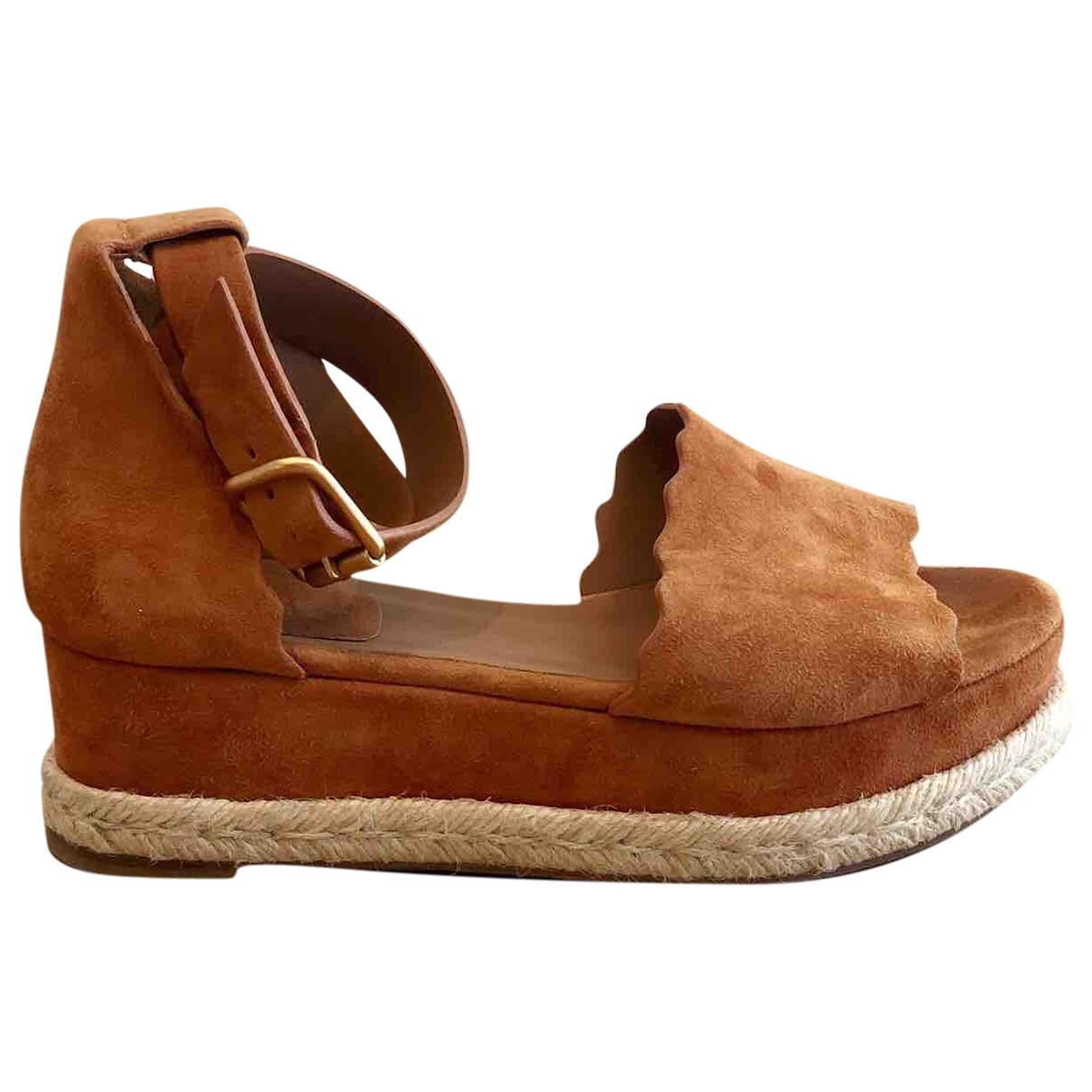 Chloé \N Brown Suede Sandals for Women 37 EU