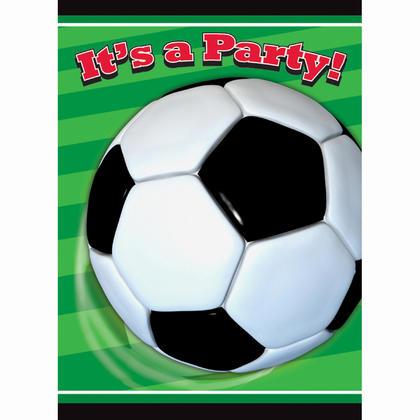 3D Soccer Invitations, 8ct Pour la fête d'anniversaire