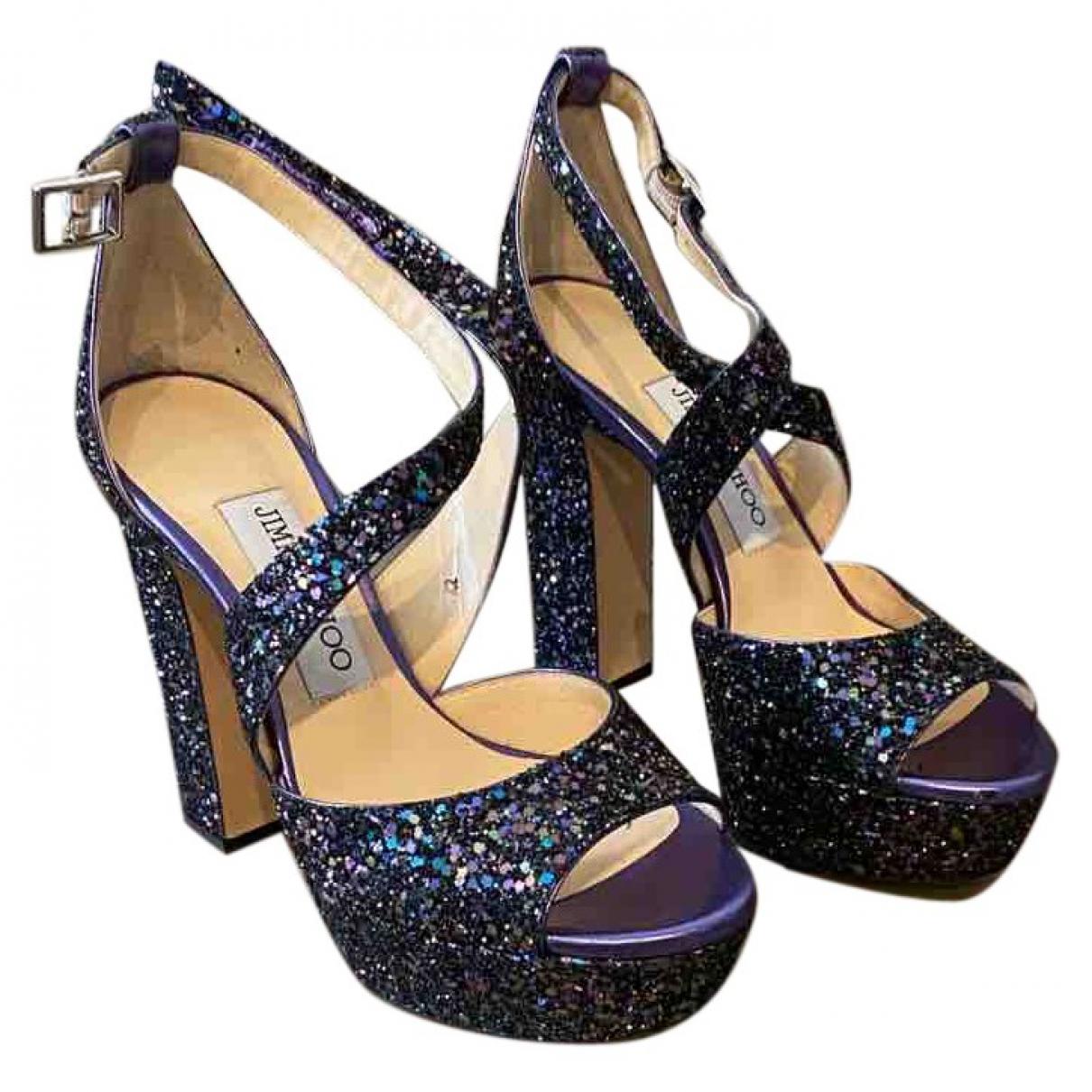 Jimmy Choo Emily Multicolour Glitter Sandals for Women 35 EU