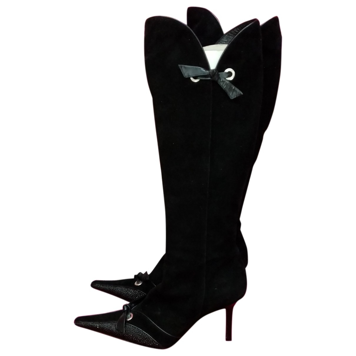 Givenchy \N Black Suede Boots for Women 38 EU