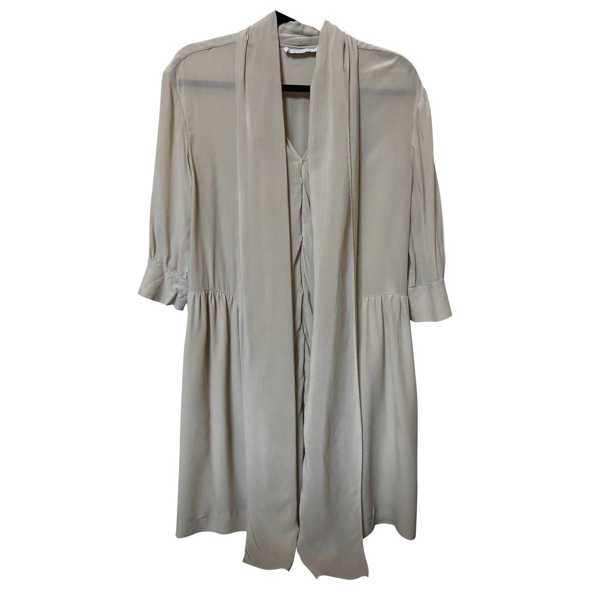 Chloé \N Beige Silk dress for Women 44 FR