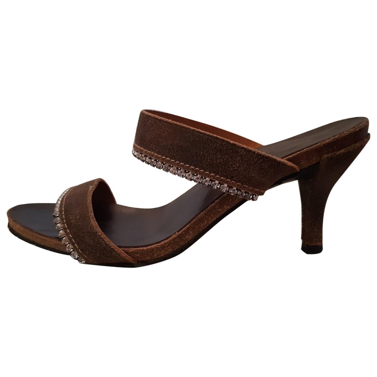 Pedro Garcia \N Brown Leather Sandals for Women 36 EU