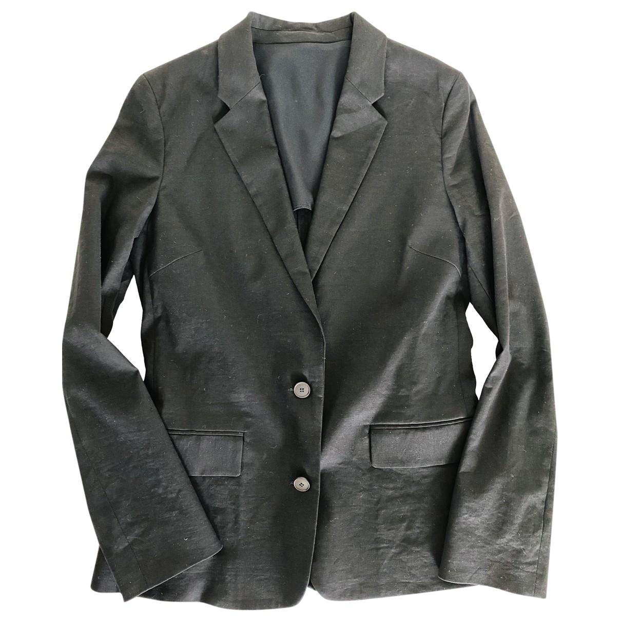 Acne Studios \N Black Linen jacket for Women 38 IT