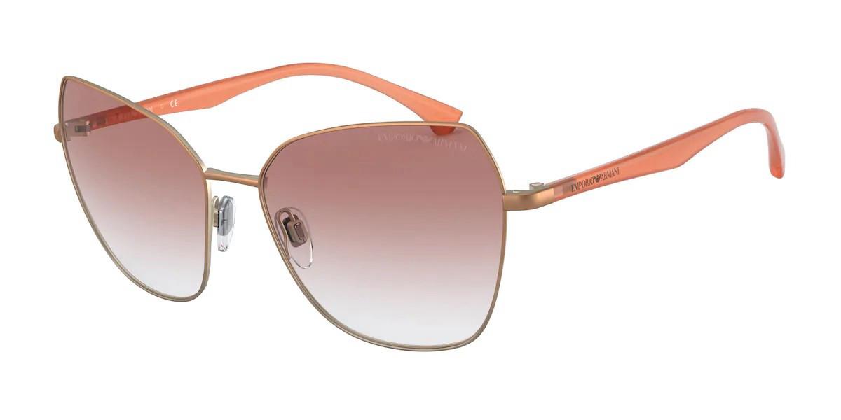 Emporio Armani EA2095 33188D Women's Sunglasses Brown Size 57