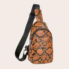 Snakeskin Print Sling Bag