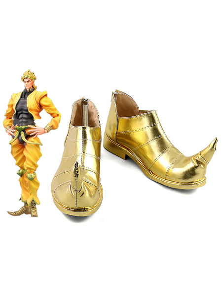 Milanoo JoJos Bizarre Adventure Dio Brando Golden Cosplay Shoes