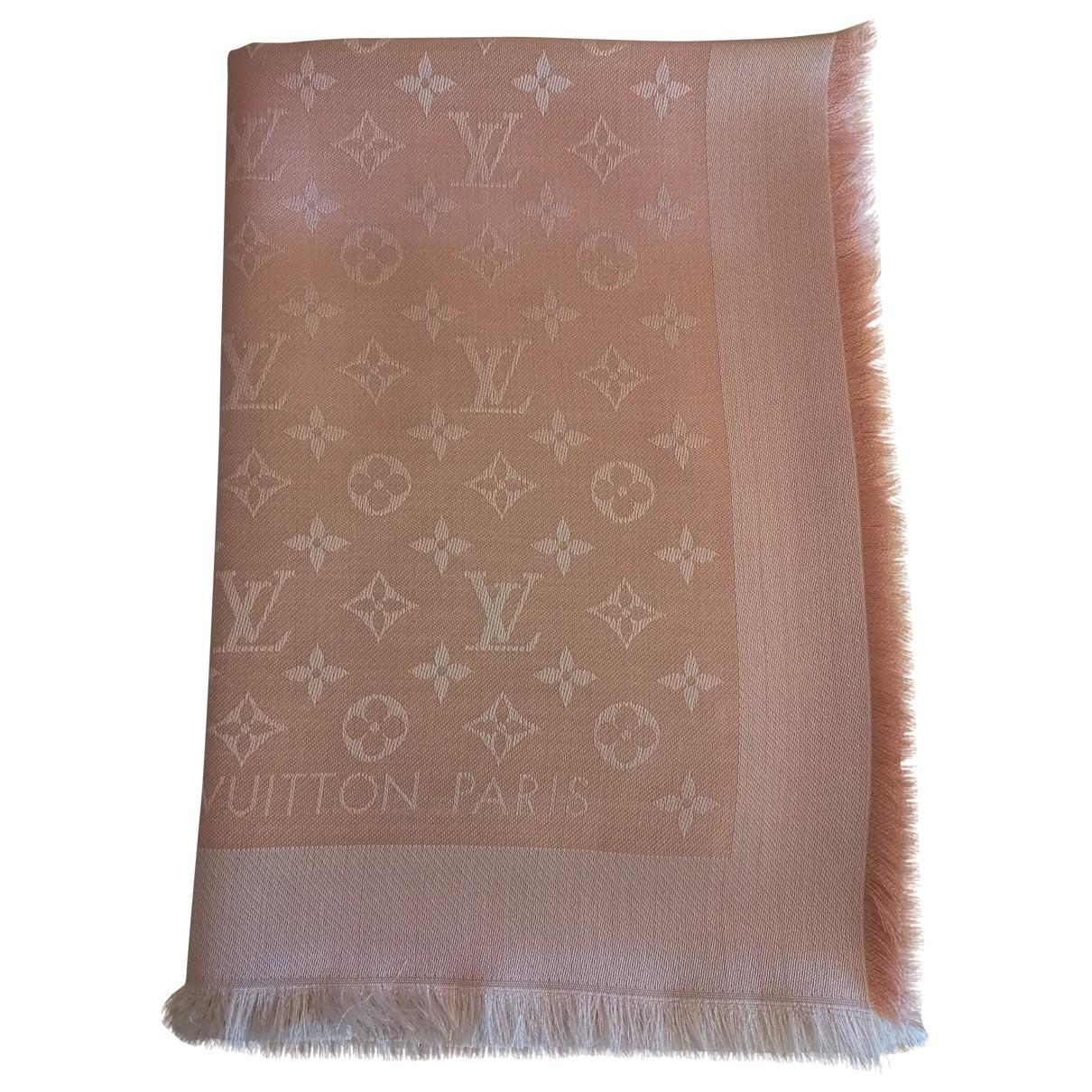 Louis Vuitton Chale Monogram Schal in  Rosa Seide