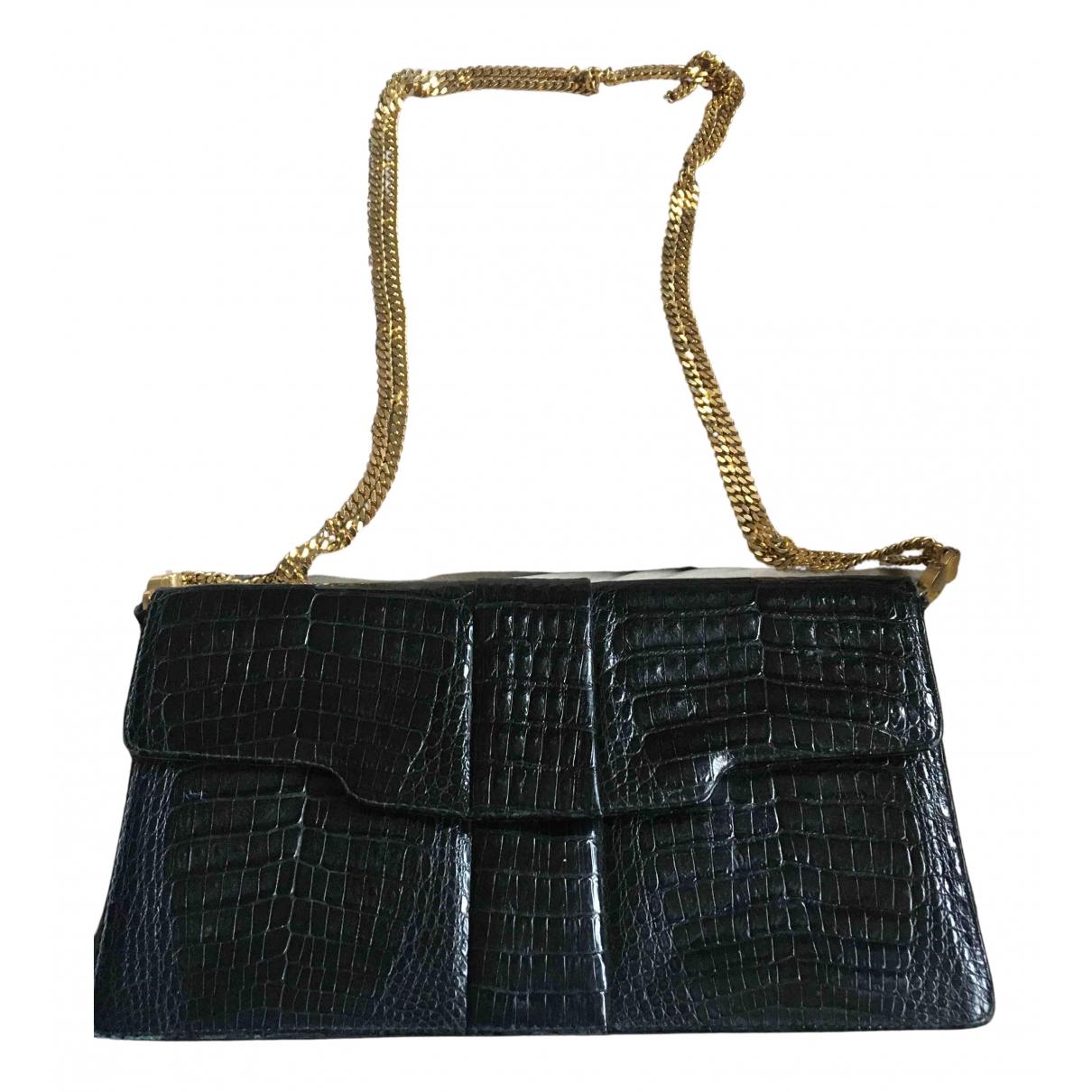 Lancel N Black Leather Clutch bag for Women N