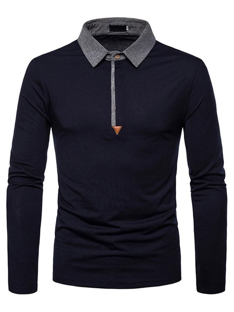 Ericdress Casual Color Block Men's Polo Shirt