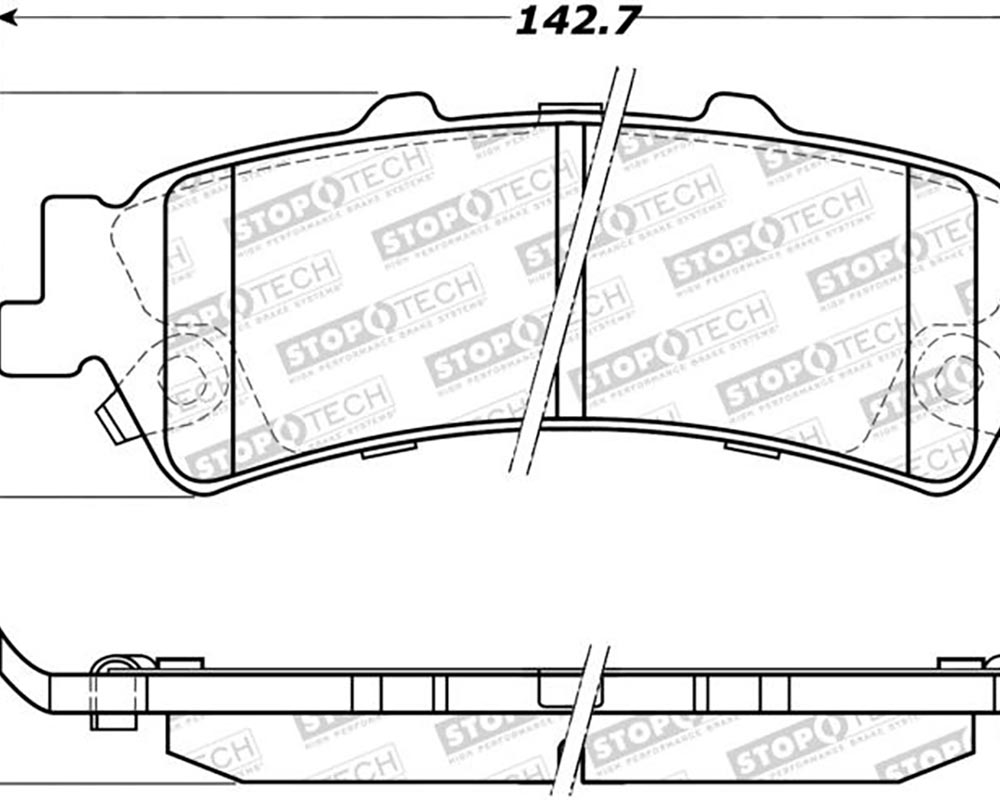 StopTech 308.0792 Street Brake Pads with Shims/Hardware Rear