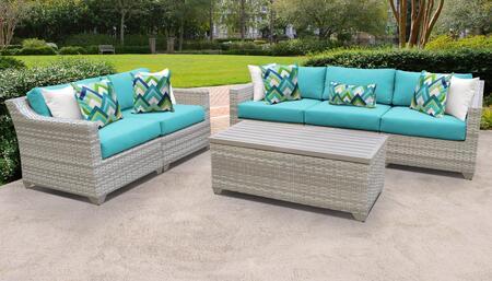 Fairmont Collection FAIRMONT-06p-ARUBA 6-Piece Patio Set 06p with 1 Armless Chair   1 Storage Coffee Table   2 Left Arm Chair   2 Right Arm Chair -