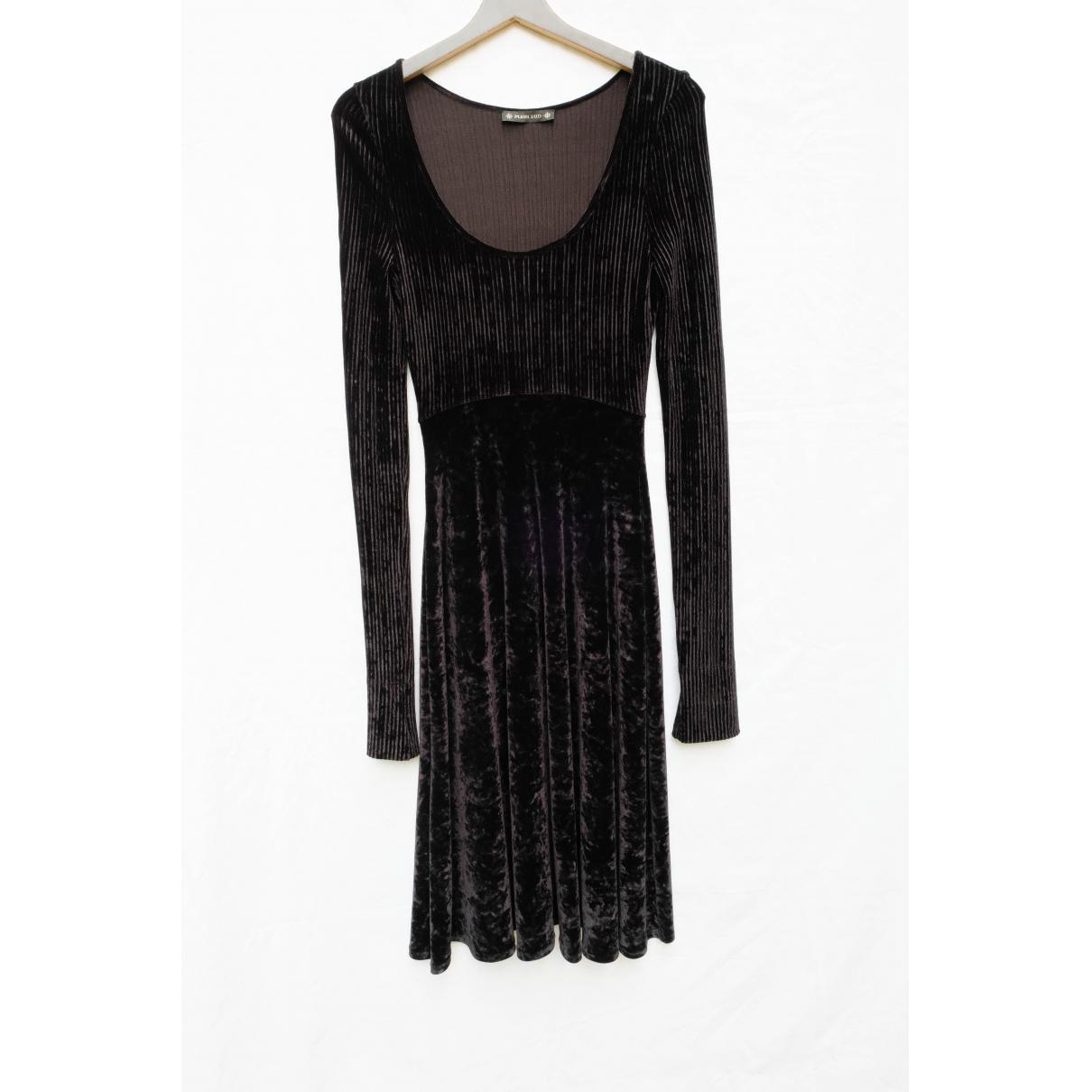 Plein Sud \N Kleid in  Schwarz Samt