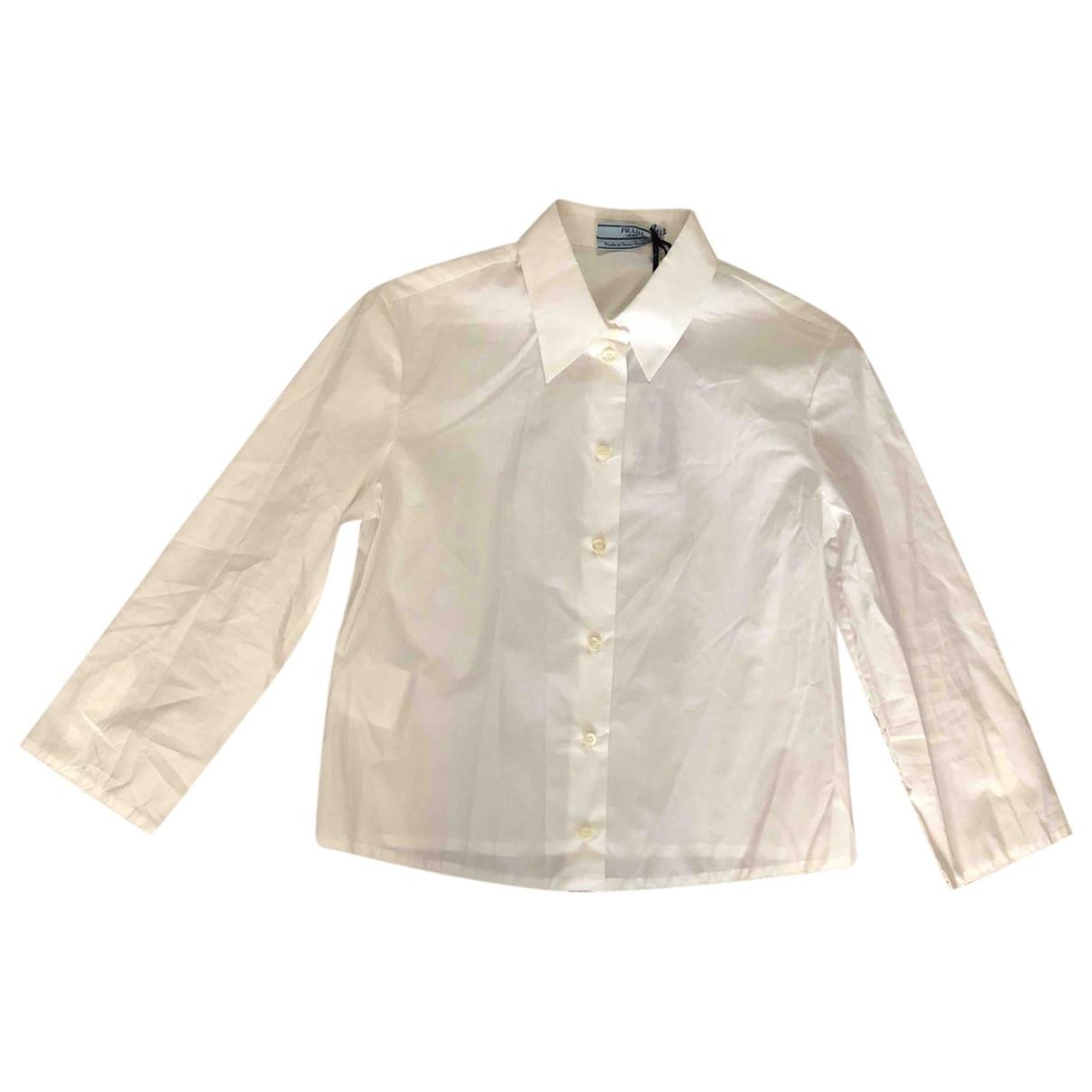 Prada \N White Cotton  top for Women 38 IT