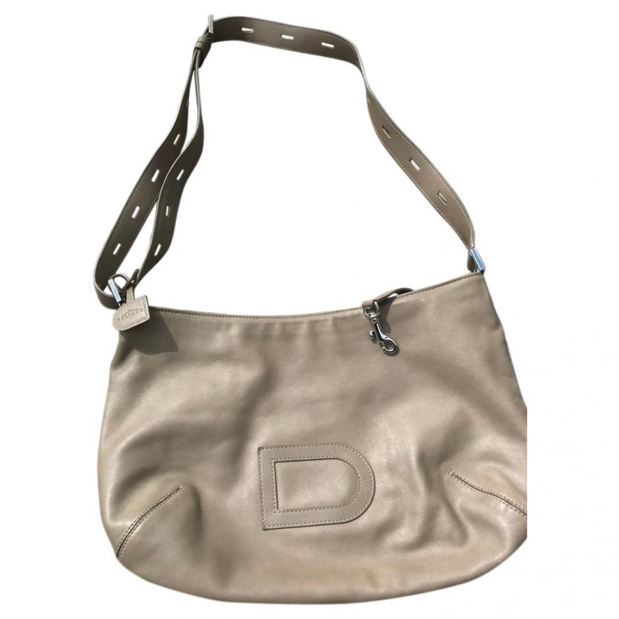 Delvaux - Sac a main   pour femme en cuir - gris